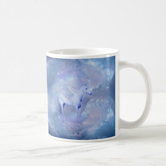 Blue Unicorn with wings fantasy Coffee Mug