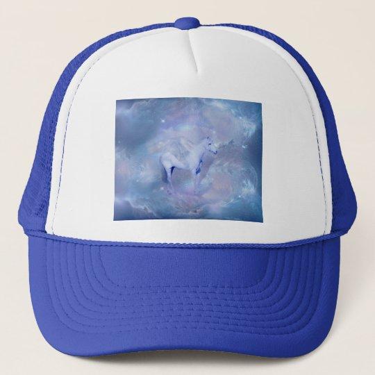 Blue Unicorn with wings fantasy Trucker Hat