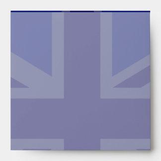 Blue Union Jack British Flag Design Envelope