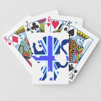 Blue Union Jack Lion Card Deck