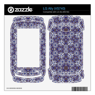 Blue unique Abstract Pattern LG Ally Skins