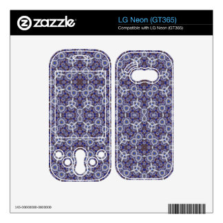 Blue unique Abstract Pattern Skin For The LG Neon