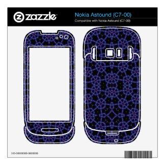 Blue Unique Abstract Pattern Nokia Astound Skin