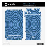 blue unique pattern motorola droid x2 skin
