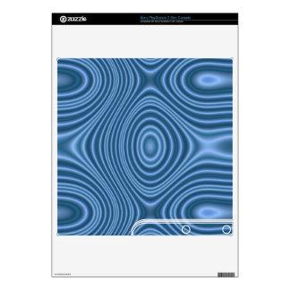 blue unique pattern PS3 slim console skins