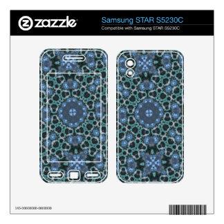 Blue Unique pattern Samsung STAR S5230C Skins