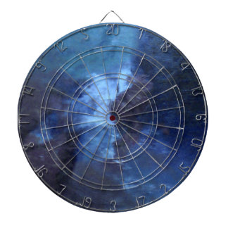 "BLUE UNIVERSE ABSTRACT"" DART BOARD"
