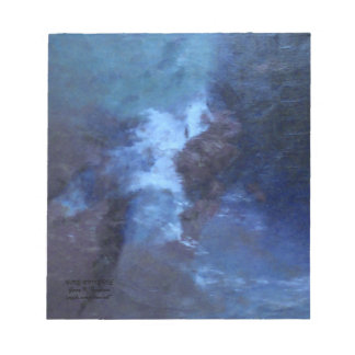 """BLUE UNIVERSE ABSTRACT"""" NOTE PAD"""