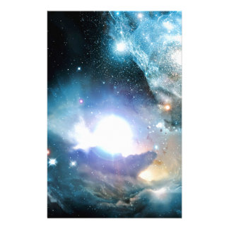 Blue Universe Cosmos Stationery