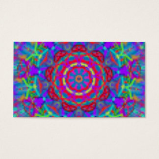 Blue Universe Mandala Business Cards