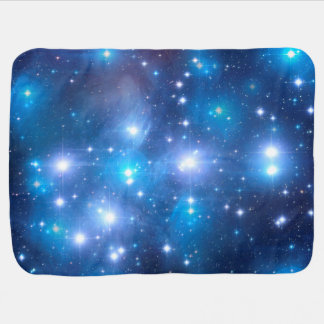Blue Universe Stars + your ideas Baby Blanket
