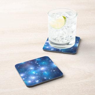 Blue Universe Stars + your ideas Beverage Coaster