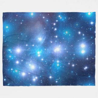 Blue Universe Stars + your ideas Fleece Blanket