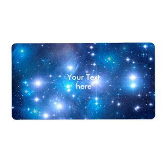 Blue Universe Stars + your ideas Label