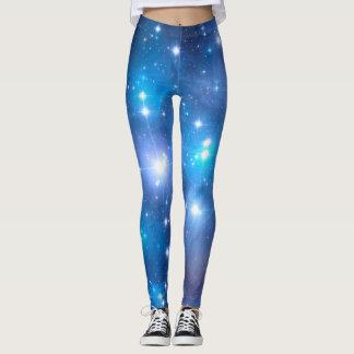 Blue Universe Stars + your ideas Leggings