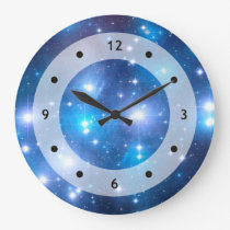Blue Universe Stars   your ideas Wall Clocks