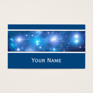 Blue Universe Stars + your text Business Card