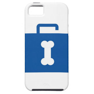 Blue unlocked briefcase with a bone keyhole iPhone SE/5/5s case