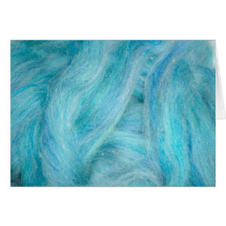 blue unspun wool card
