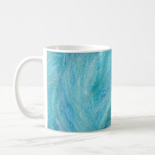 blue unspun wool coffee mug