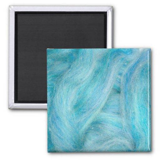 blue unspun wool fridge magnets