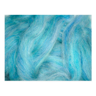 blue unspun wool postcard