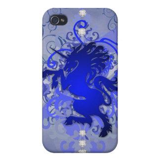 Blue Urban Fantasy Unicorn 4g I iPhone 4 Cover