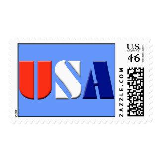 Blue USA Postage Stamps