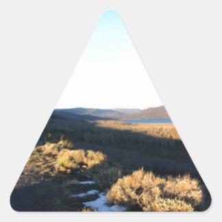 Blue Utah Skies Triangle Sticker