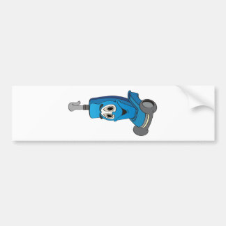 Blue Vacuum Cleaner Bumper Sticker