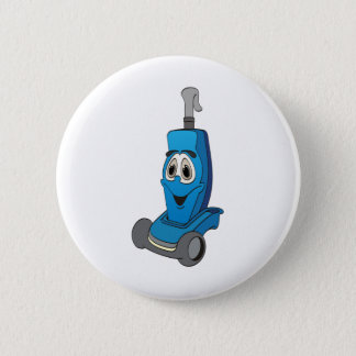 Blue Vacuum Cleaner Pinback Button