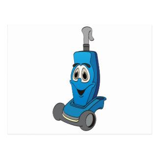 Blue Vacuum Cleaner Postcard