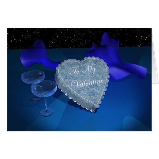 Blue Valentine Fantasy Card