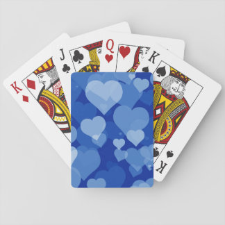 Blue Valentine Hearts Playing Cards