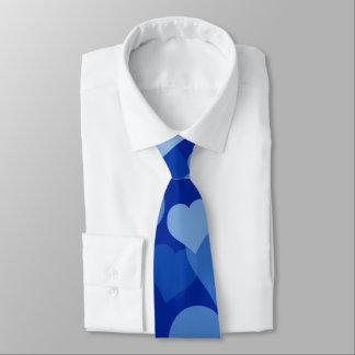 blue valentine hearts tie