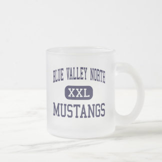 Blue Valley North - Mustangs - Overland Park Frosted Glass Coffee Mug