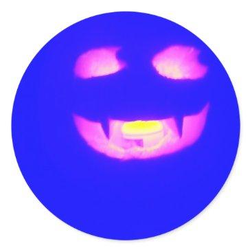 Halloween Themed Blue vamp - sticker