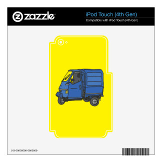 Blue Van (foodtruck) Decal For iPod Touch 4G