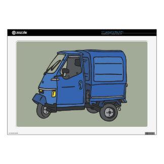 """Blue Van (foodtruck) Decals For 17"""" Laptops"""