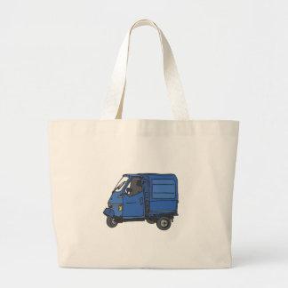 Blue Van (foodtruck) Large Tote Bag