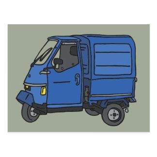 Blue Van (foodtruck) Postcard