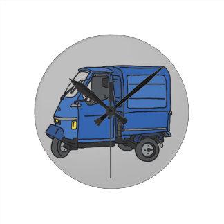 Blue Van (foodtruck) Round Clock