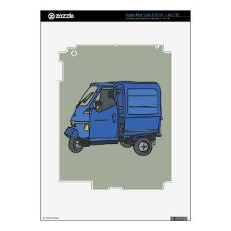 Blue Van (foodtruck) Skin For iPad 3