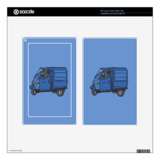 Blue Van (foodtruck) Skins For Kindle Fire