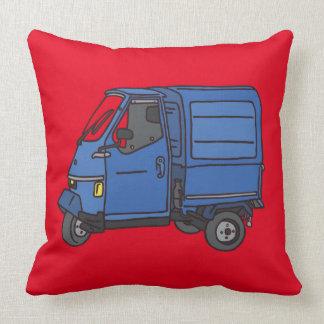 Blue Van (foodtruck) Throw Pillow