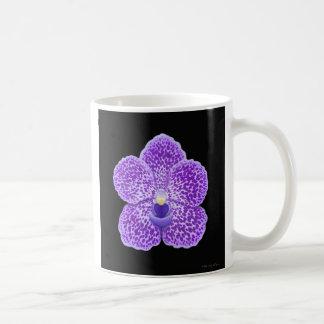 Blue Vanda Orchid Flower Classic White Coffee Mug
