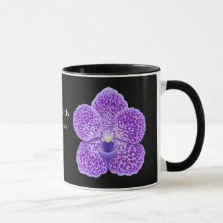 Blue Vanda Orchid Flower Mug