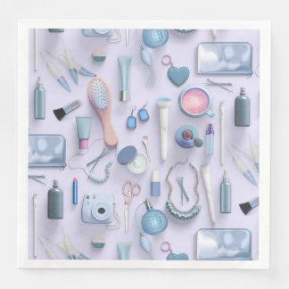 Blue Vanity Table Paper Dinner Napkin