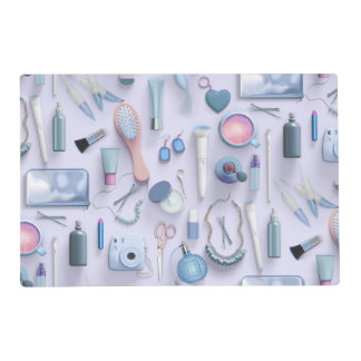 Blue Vanity Table Placemat