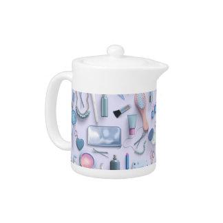 Blue Vanity Table Teapot